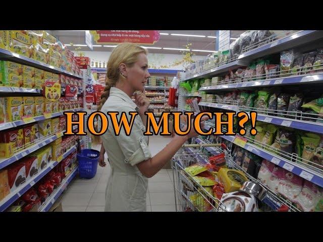 Цены в супермаркете. Вьетнам / Price in the store. Viet Nam.