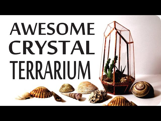❣AWESOME DIY Geometric Crystal Terrarium Urban Outfitters Pinterest Inspired❣