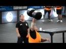 Михаил Кокляев подъем 120кг гантели на Strongman Champions League