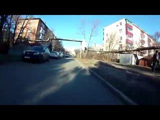 Острые ситуации на Дороге (Электроскутер) 25.12.2015