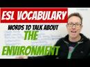 English lesson - Environment vocabulary - palabras en inglés