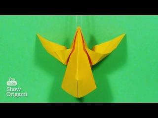 Оригами #ангел из бумаги