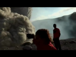 Moment of the eruption of the volcano telica, nicaragua in may 2015