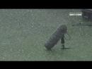 Grandine e pioggia all'Olimpico: per ora la gara RomaSamp è sospesa.