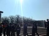 Прохождение центральной колонны на Пискаревском Мемориальном кладбище 06.05.16