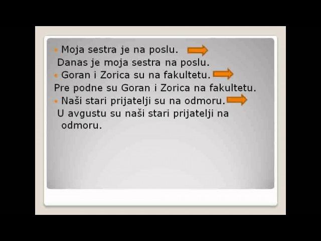 Порядок слов с глаголом быть в сербском