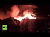 В Ставропольском крае горит санаторий «Ессентуки»