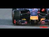 Авто спорт гонки Лучшие моменты Формулы 1 Гран при Абу Даби  Феттель высекает в повороте искры