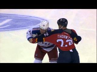Tanner Glass vs Shawn Thornton Jan 2, 2016