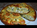 Нежный заливной пирог с яйцами и зеленым луком