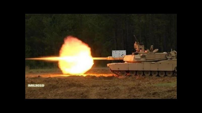 Танки M1A2 SEP V2 Абрамс Стрельба по мишеням, проверка прицела на точность
