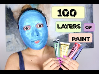 100 Layers of Face Paint !!!