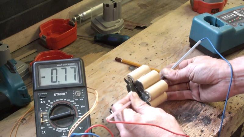 Как перебрать аккумулятор шуруповерта