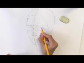 Уроки рисования. Как нарисовать ЛИЦО ЧЕЛОВЕКА карандашом