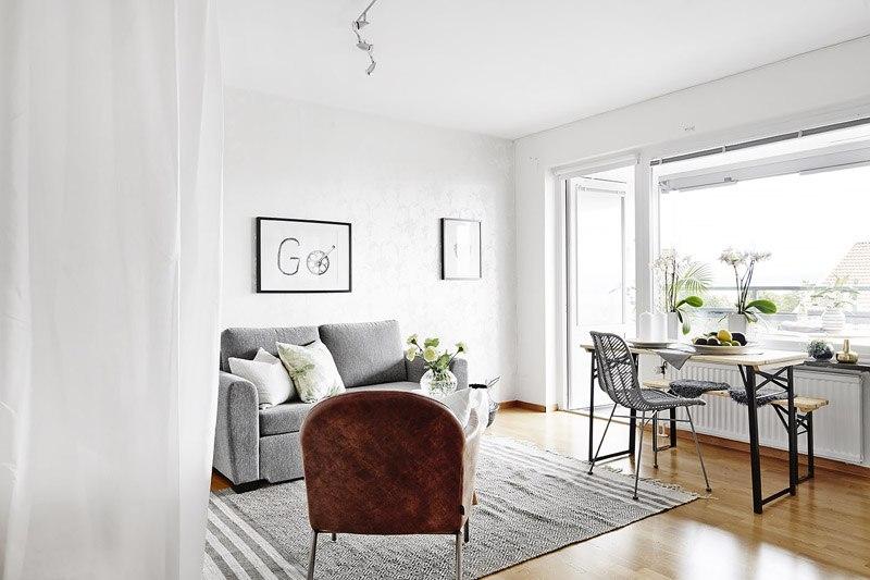 Интерьер квартиры-студии почти 29 м.