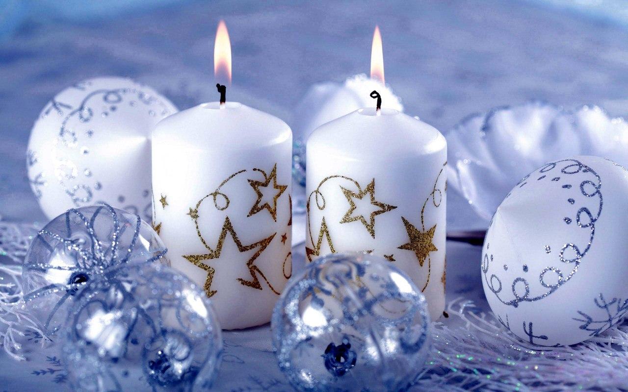 Свечи новый год  № 1395179 без смс