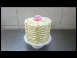 Идея, как украсить торт насадкой