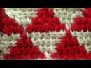Тунисский жаккард без протяжек Tunisian crochet stitches 33