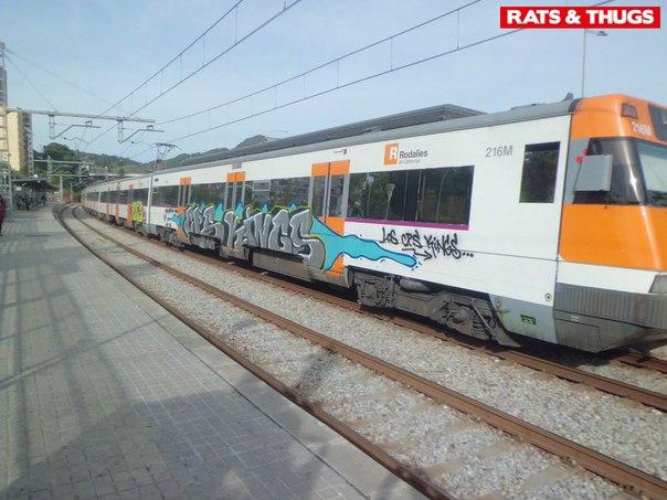 graffiti renfe barcelona