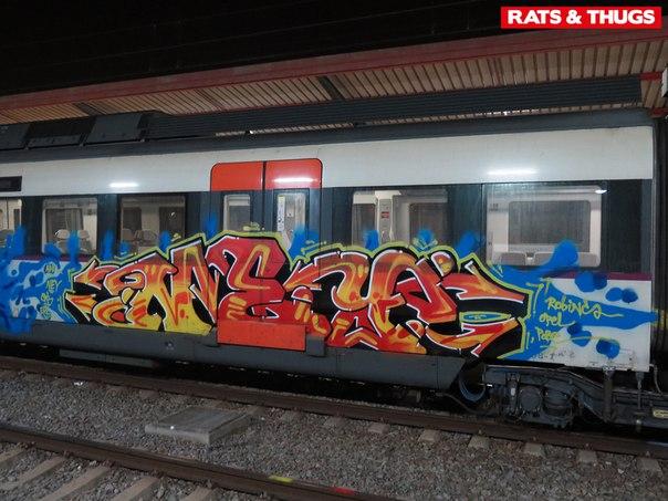 graffiti tren barcelona