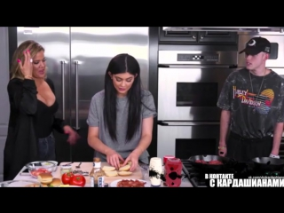 Making sliders with khloe and harry