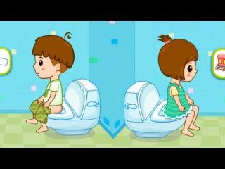Малыш обкакался и описался - Туалет Тренинг мультик игра для малышей от BabyBus - Toilet Training