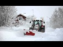 Valtra T190 4 with Mählers SP10 Sideplow Snowclearing