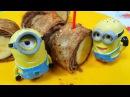 Сладкие банановые роллы. Миньоны в гостях у Свинки Пеппы. Простой рецепт десерта из банана