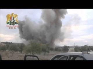 Сирия. Авиаудар в прямом эфире телеканала Orient TV