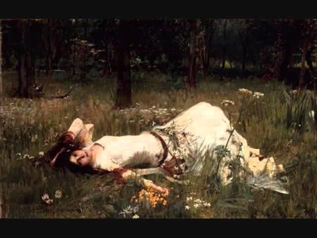Joan Sutherland Ophelia's Mad Scene - Ambroise Thomas Hamlet with Pre-Raphaelite and Classic Art