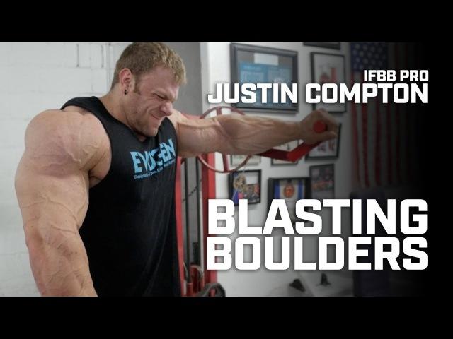 IFBB Pro Bodybuilder Justin Compton Trains Shoulders Contest Prep