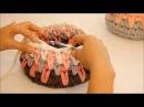 סריגת חצאי עמודים בקפיצת שורות (Crochet spike stitch)