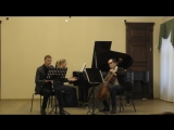 Carl Frühling Trio a-moll für Klarinette, Cello und Klavier \ 4. Allegro vivace