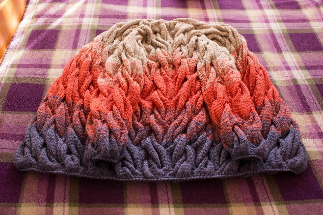 Градиентное вязание спицами