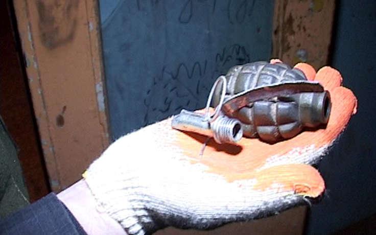 Житель станицы Зеленчукской  на берегу реки Большой Зеленчук нашел боевую гранату