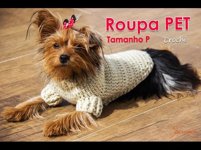 Roupa PET de Crochê | Tamanho P | Parte 1 | Professora Simone
