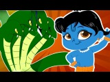Young Krishna And Kaliya - Adventures Of Little Krishna - Bulbul Apps