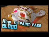 How to Make Fake Blood How to Blood Splatter a Mask Tutorial Mask.