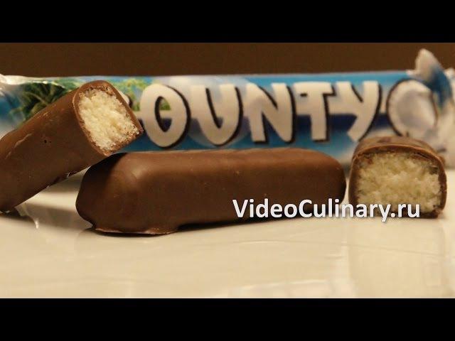 Рецепт - Шоколадный батончик Баунти от www.videoculinary.ru/