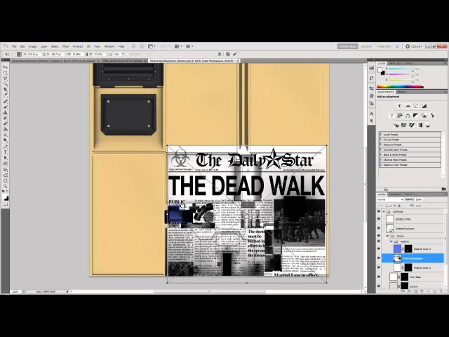 Photoshop Game Texturing Tutorial Part 2 - Painting Base Color Layers and Details