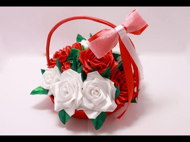 Корзинка с розами ENG SUB Rose basket Свадебные аксессуары Марины Кляцкой