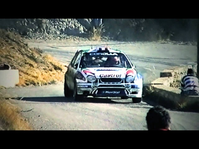 Toyota Corolla WRC tarmac action - with pure engine sounds