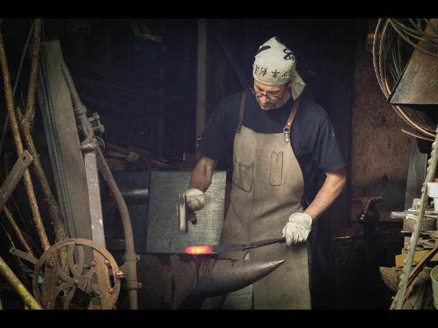 TLDW 1 - Full Process Forging a Shear Steel Tanto Blade - Historical Knife Making