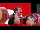 WORLD'S STRONGEST MAN Aleksey Lovchev snatch 211 kg clean and jerk 264 kg 580 lbs WWC 2015