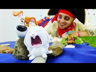 ТАЙНАЯ ЖИЗНЬ ДОМАШНИХ ЖИВОТНЫХ! Видео для детей: СУПЕРГЕРОИ попали в лапки к КРОЛИКУ из мультика!