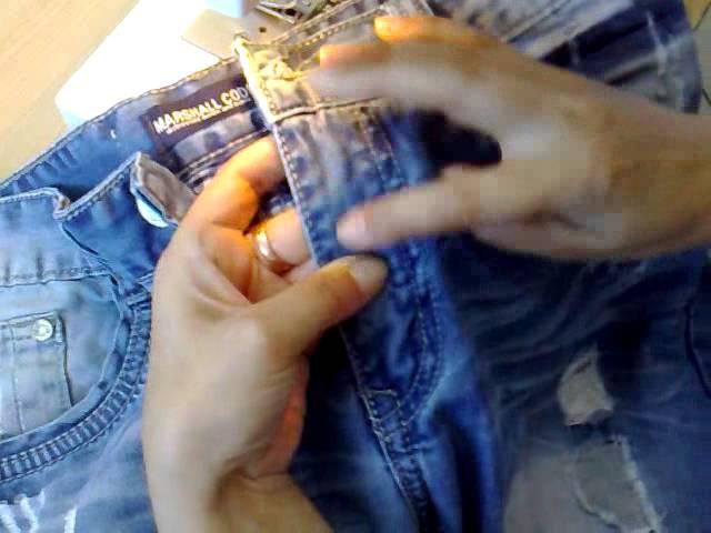 замена молнии в джинсах за 10 минут