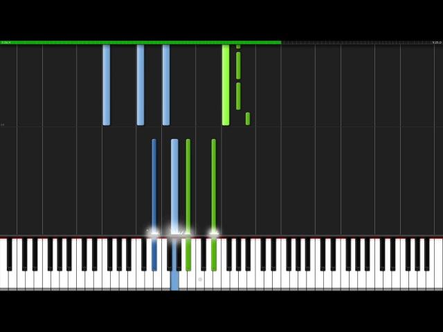 Nuvole Bianche - Ludovico Einaudi [Piano Tutorial] (Synthesia)