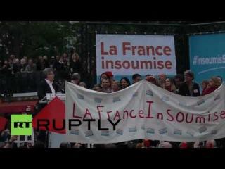 Франция: Кандидат в президенты Меланшон хлопает ЕС, Французский правительство. для трудового права.