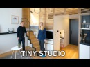 Tiny Studio Apartment - Sleeping Loft and Moving Staircase (Zoku)