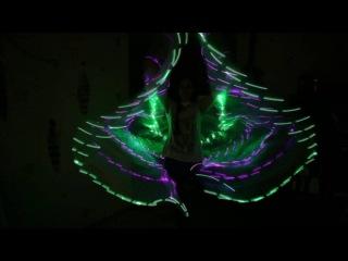 Светодиодные крылья diamond 200 розовый зеленый 8(925)303-51-36